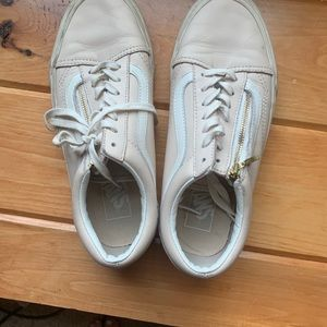 Lightly used leather vans